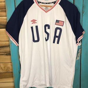 NWT Umbro USA Soccer shirt XXL